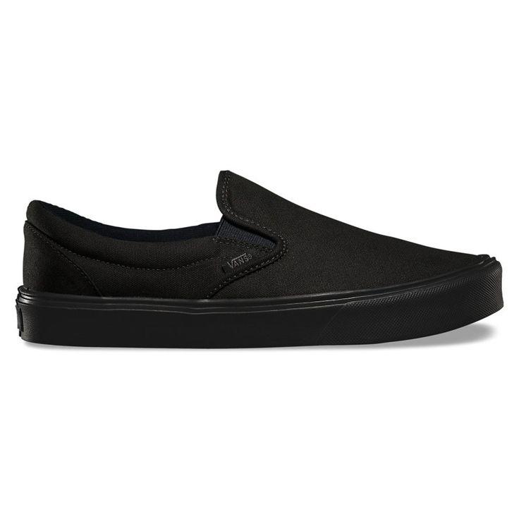 VANS Black/Black Vans Canvas Slip On Black/Black