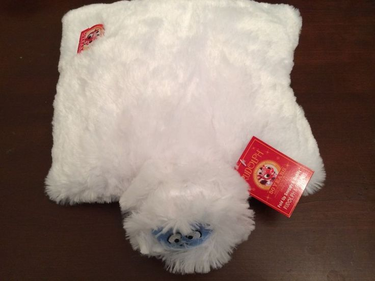 50TH ANNIVERSARY BUMBLE RUDOLPH THE RED NOSED REINDEER PILLOW PET ABOMINABLE #DanDee