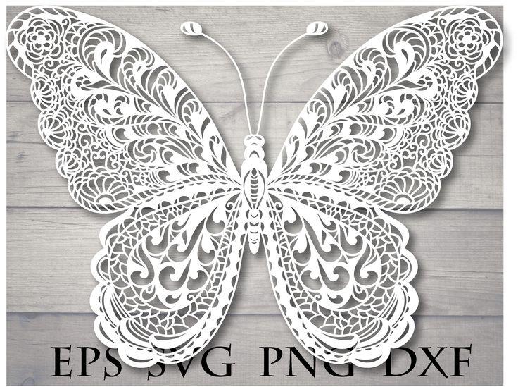 Download Mandala butterfly svg zentangle | Butterfly mandala ...