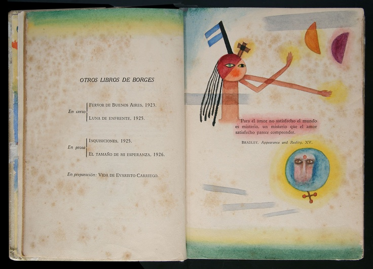 Jorge Luis Borges, El Idioma de los argentinos (The Language of the Argentines). Buenos Aires: Gleizer, 1928. Intervenido por Xul Solar. Colección Museo Xul Solar