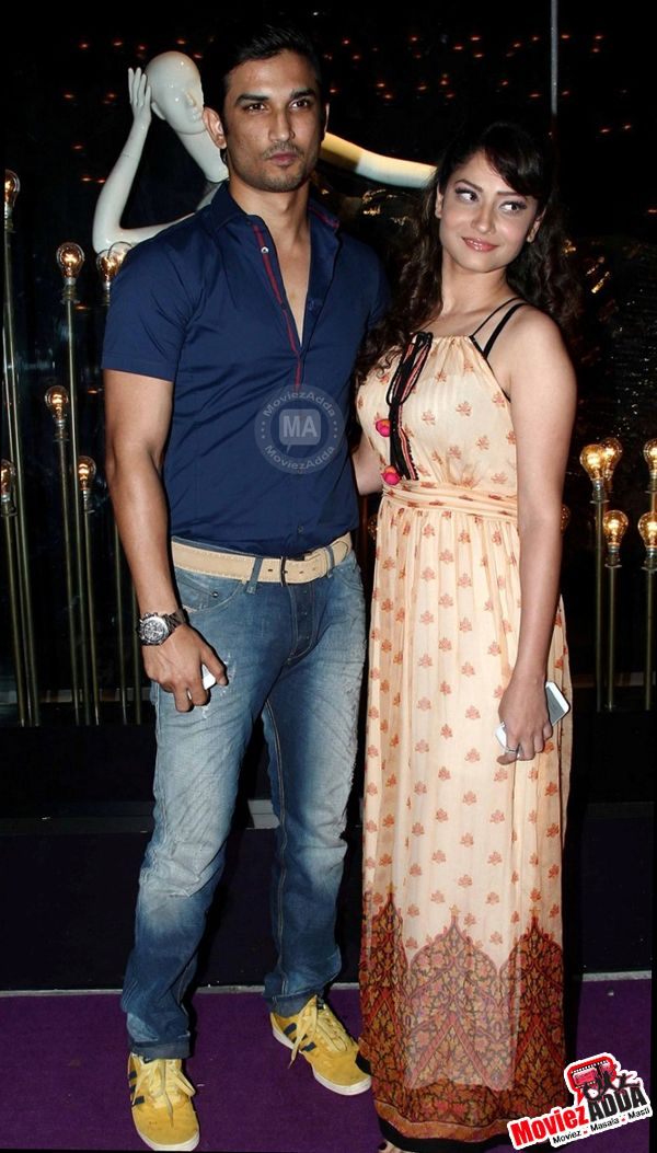Sushant Singh Rajput and Ankita Lokhande at Divani designer store launch