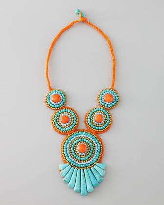 Tribal Rope Bib Necklace by Panacea at Neiman Marcus.