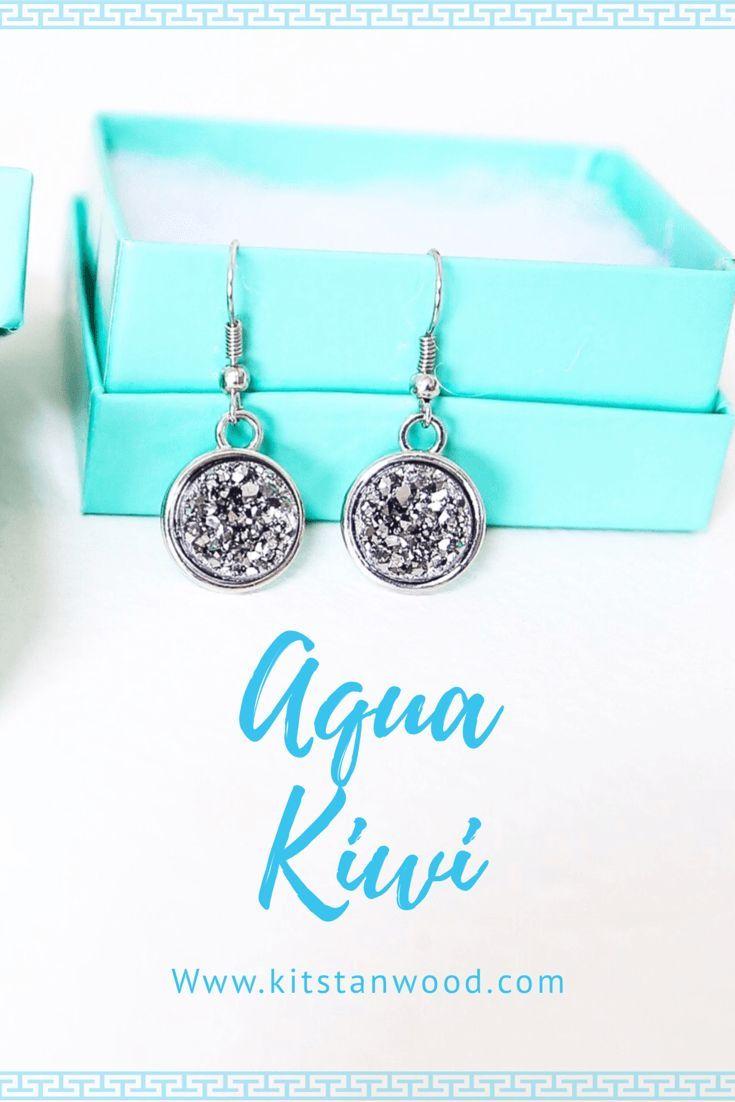 Aqua Kiwi Jewlery Stone Earrings Review