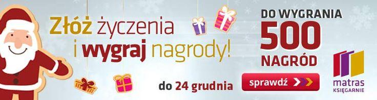 """Najlepszym prezentem na Mikołaja jest książka. Wpadnij do księgarni Matras i i zapytaj sprzedawcę lub sprawdź naszą świąteczną ofertę książek z rabatem nawet do -50% w katalogu """"Gwiazdka z Matrasem"""" na www.matras.pl.  Możesz także wygrać w konkursie """"Złóż życzenia, wygraj nagrody"""". Do wygrania 500 nagród, między innymi bony wycieczkowe, weekendy, tablety, aparaty fotograficzne, biżuterię, kilkaset książek. Zapraszamy do księgarni Matras Księgarnie i na www.matras.pl!"""