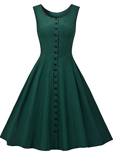 G Marry Womens Classy Audrey Hepburn 1950s Vintage Rockabilly Swing Dress Size 10 Green * You can get more details by clicking on the image. Note: It's an affiliate link to Amazon.