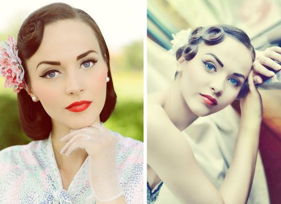 50s bridal make up, rockabilly bride, vintage bride, sposa anni 50, sposa rockabilly, victory rolls