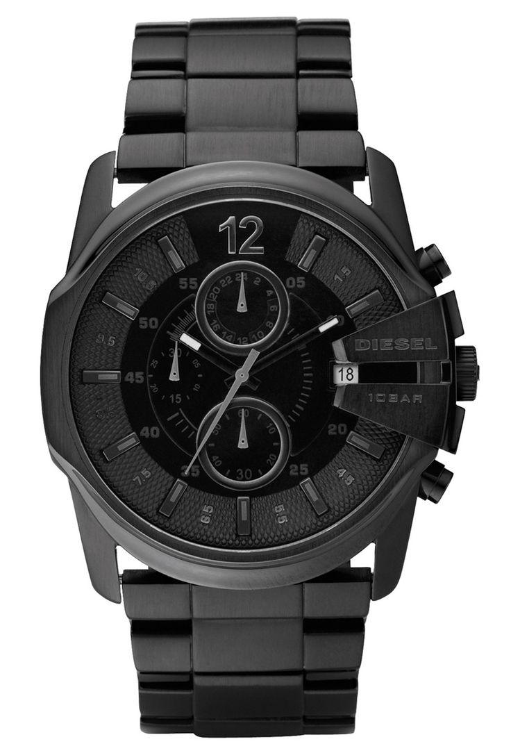 Diesel Master Chief DZ4180 - Herre kronograf i sort stål