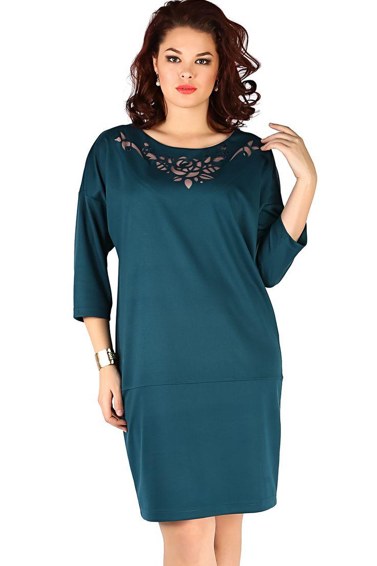 Трикотажное прямое платье Новита-413-1 - интернет-магазин Moda-nsk