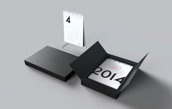 Simple 2014 Desk Calendar Design & Packaging