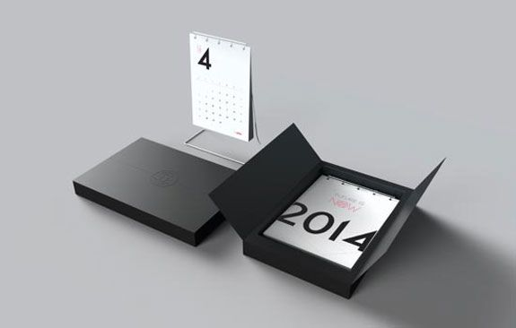 Simple 2014 Desk Calendar Design & Packaging