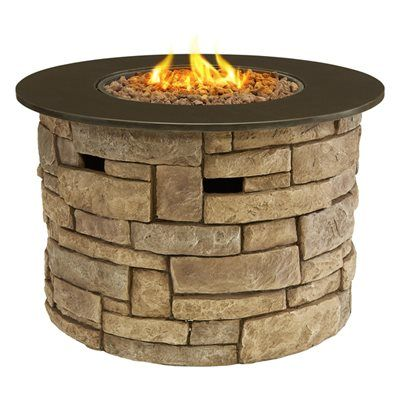 Bond Canyon Ridge 50,000 BTU Round Liquid Propane Gas Fire Pit Table