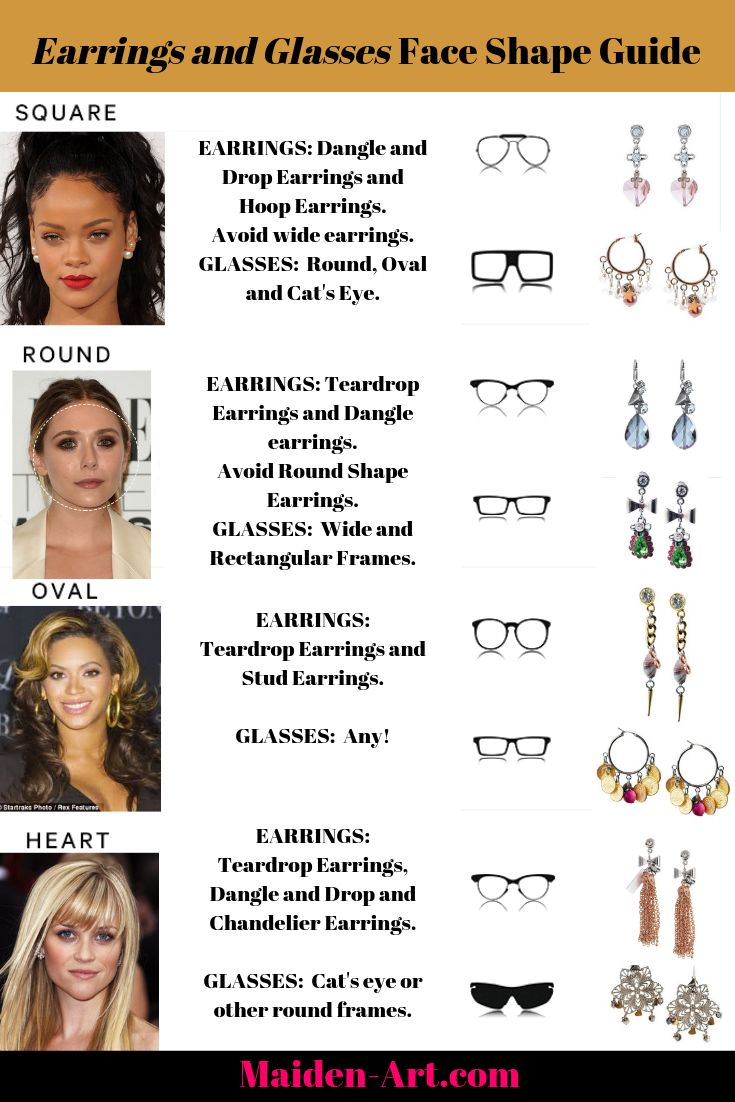 The Ultimate Guide on How to Wear Earrings and Glasses for Face Shape.