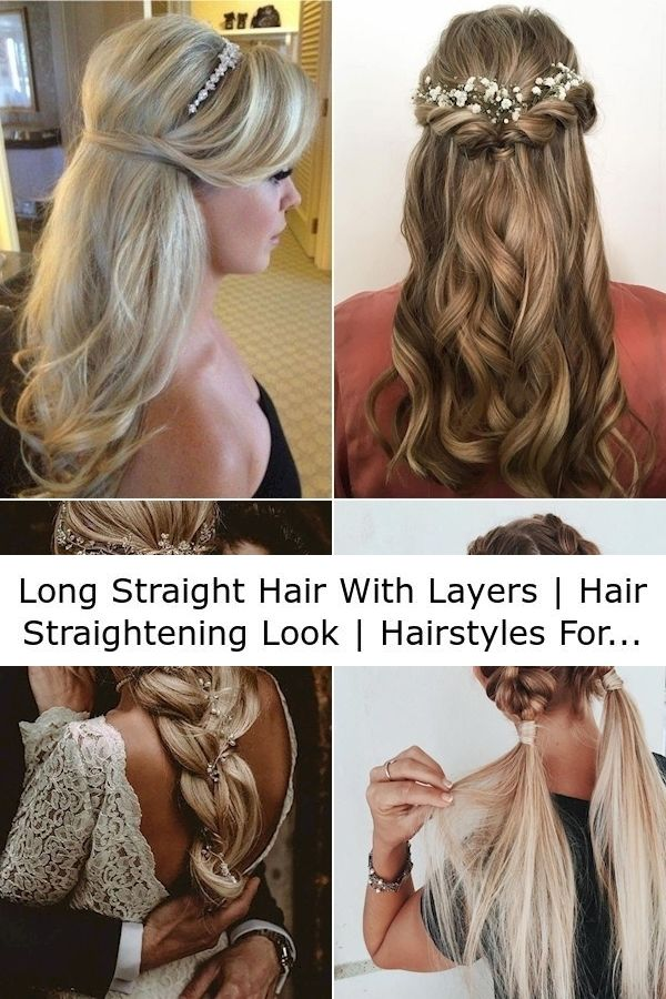 Long Straight Hair With Layers Hair Straightening Look Hairstyles For Short Straightened Hair In 2020 Straight Hairstyles Hair Styles Straight Layered Hair
