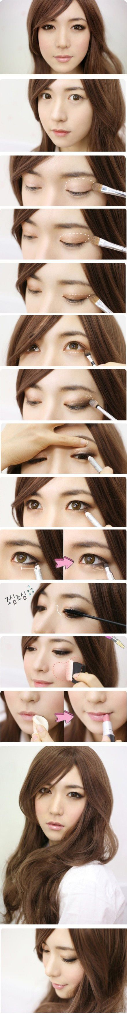 Eyes makeup pictorial - Gorgeous soft #eyes #makeup #tutorial