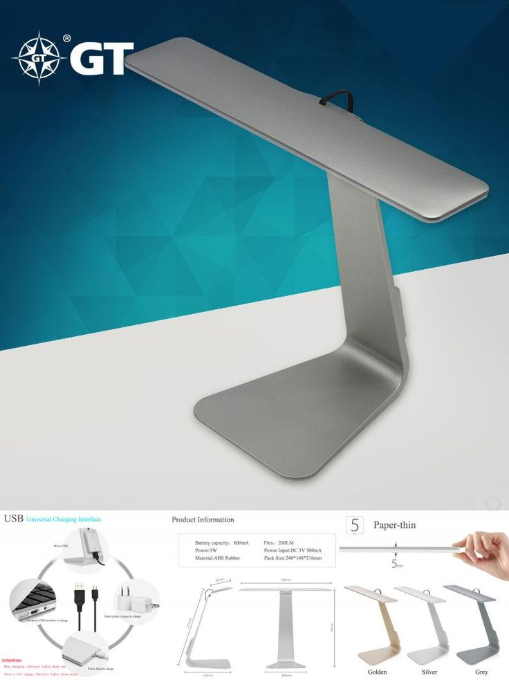 [Visit to Buy] GT-Lite LED Desk Lamp,Eyes Protection,Touch ON/OFF Switch,3W,200lm,USD Power,Folding Table Lamp,Light,GTTL03 #Advertisement