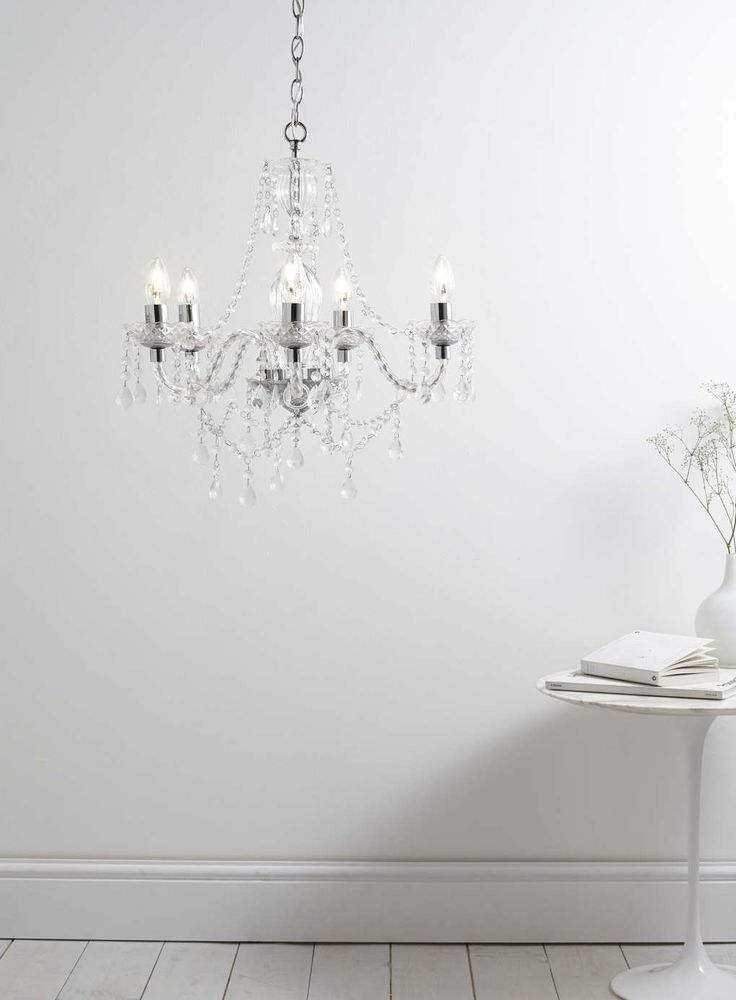 Bryony 5 light chandelier chrome all home lighting sale sale offers bhs
