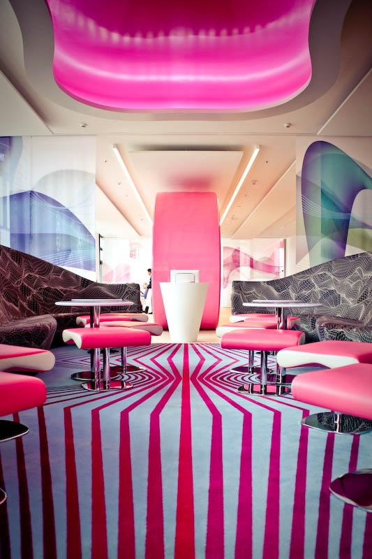 Design by Karim Rashid at Music & Lifestyle Hotel nhow Berlin.