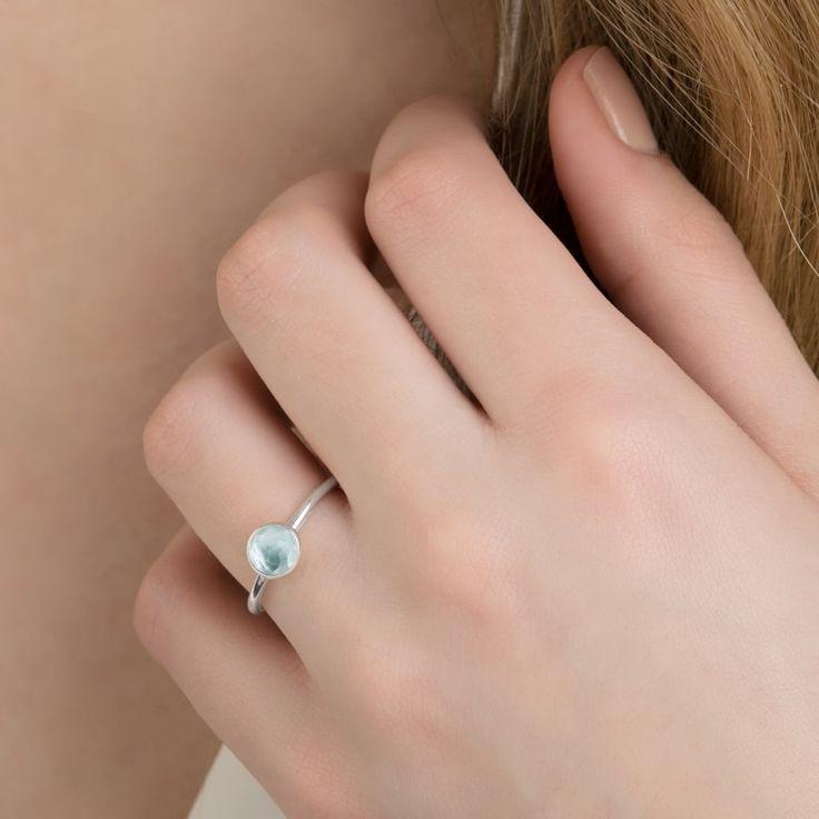 Пандора марта камень кольца капли 191012NAB