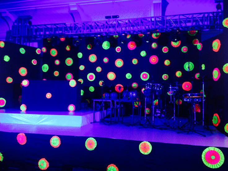 Stage Decor | Neon Theme in 2019 | Neon party decorations ...