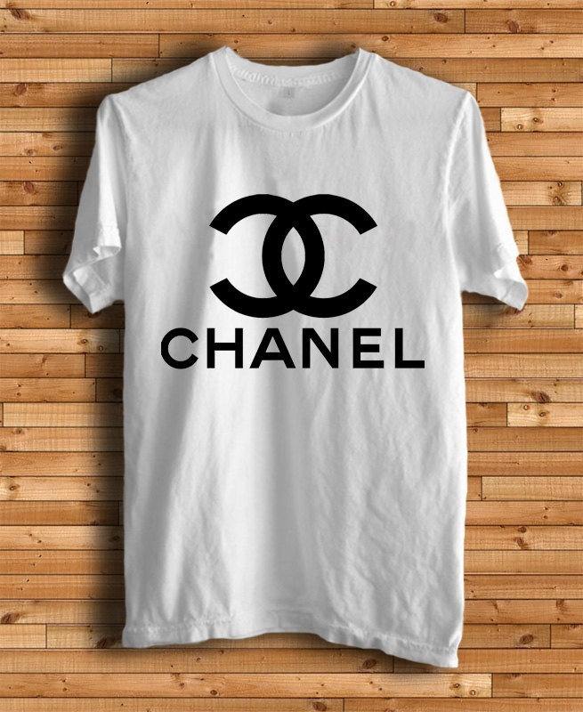 new chanel logo men white t shirt clothing footwear