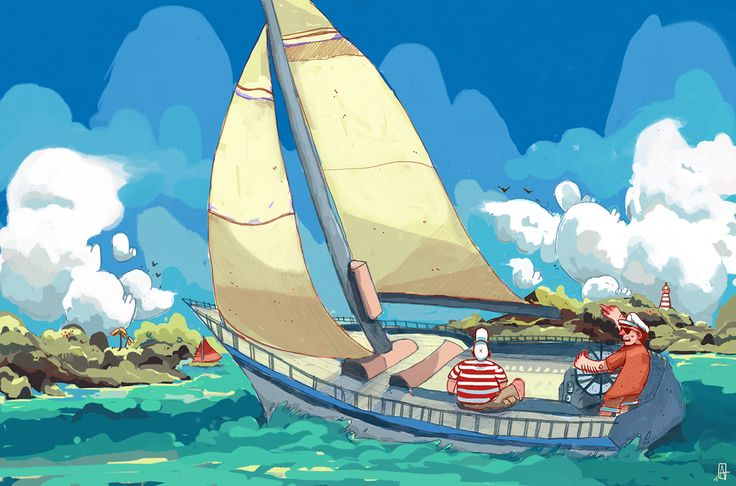 Sailing the islands on Behance