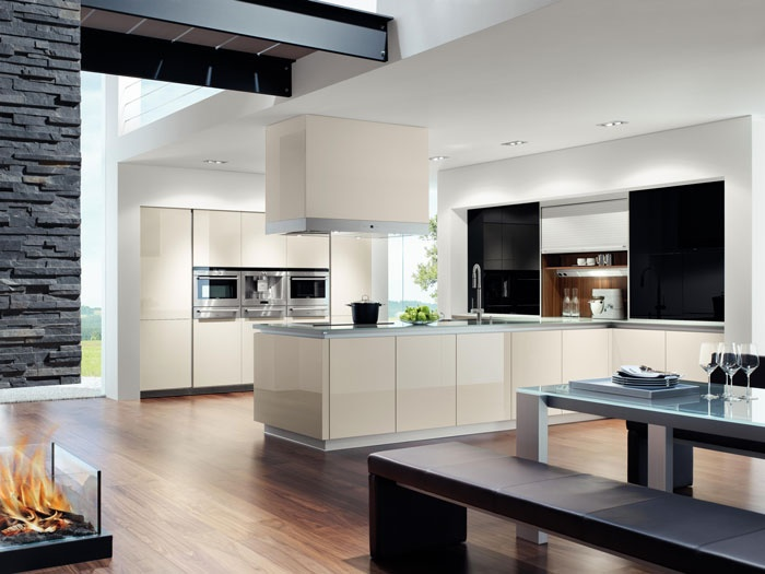 Pronorm Y Line gloss cream kitchen a perfect modern German kitchen design