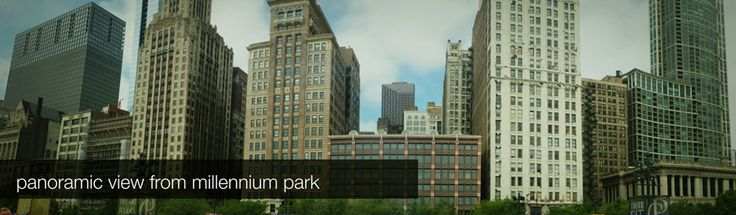 Panoramic view from millennium park