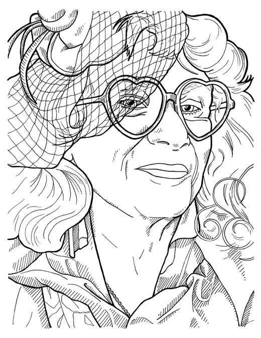 From Advanced Style The Coloring Book By Ari Seth Cohen
