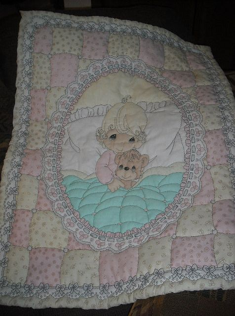 Precious Moments Baby Girl Quilt
