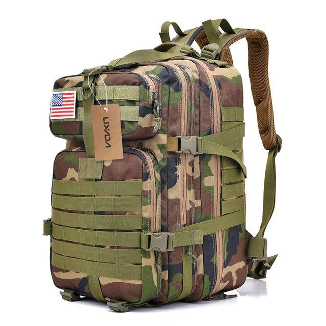 40L Military Marching Rucksack Outdoor Waterproof Hiking Backpack Shoulders Bag