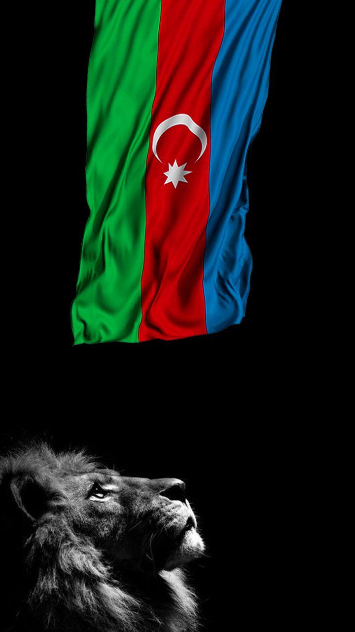 4k Hd Azərbaycan Bayragi Və Aslan Divar Kagizi Azerbaijan Flag And Lion Wallpaper Azerbaijan Flag Turkey Flag Iphone Wallpaper King
