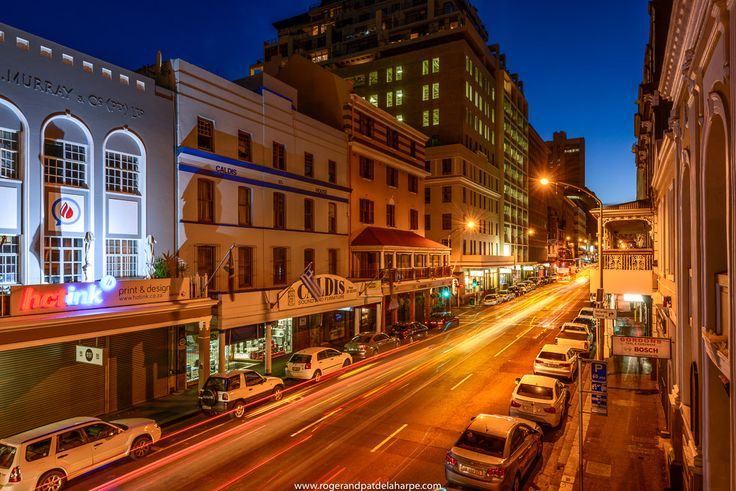 Night view of Long Street in Cape Town South Africa. See more of our work at http://www.rogerandpatdelaharpe.com