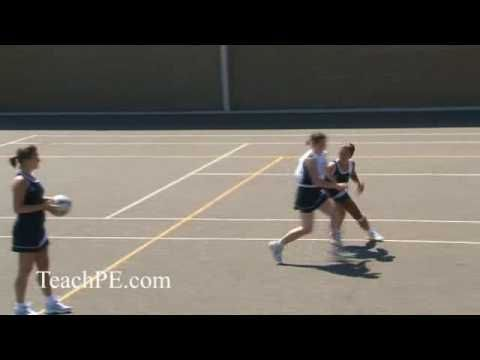 Netball - Attacking Movement - The Front Cut