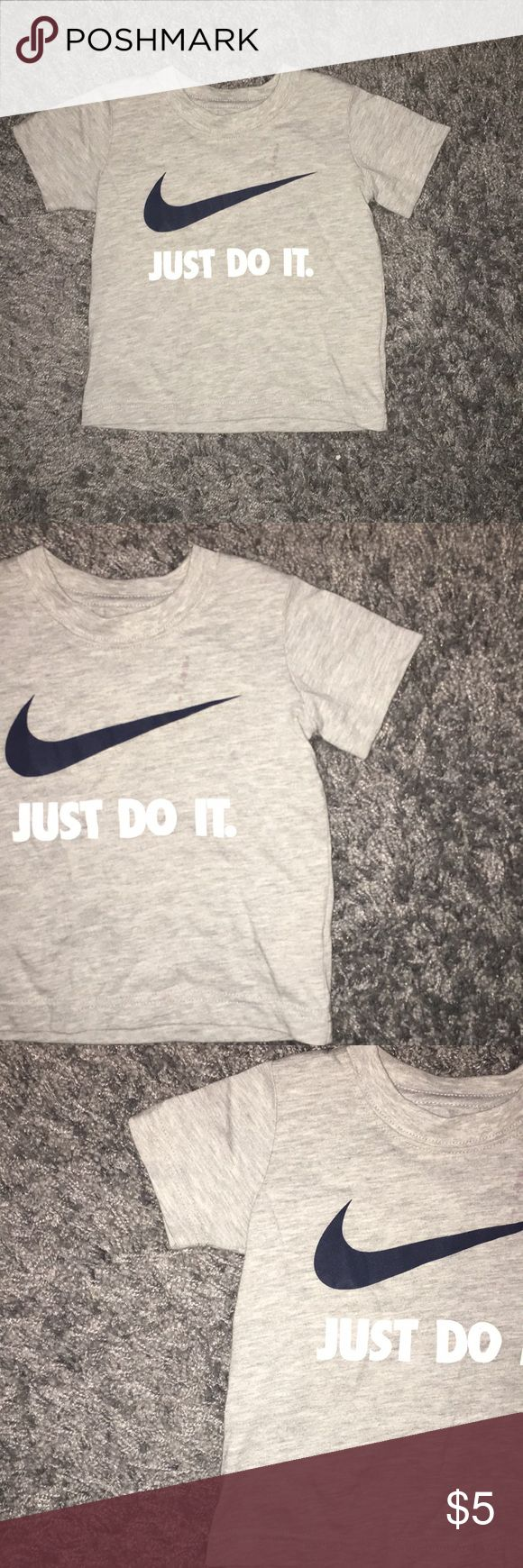 Grey Boys Nike short sleeve tee Has a small stain in the front Nike Shirts & Tops Tees - Short Sleeve