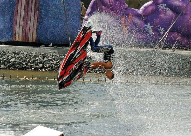Stunt Show at Sea World, Gold Coast, Australia.
