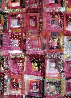 From Grids to Stitch - fused Recycled Plastic Bags by Jan Beaney, Jean Littlejohn