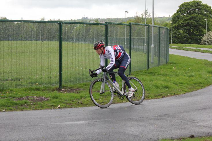 Steven Burke on the Hub Corner | Steven Burke Cycling Hub - a closed loop cycling circuit.