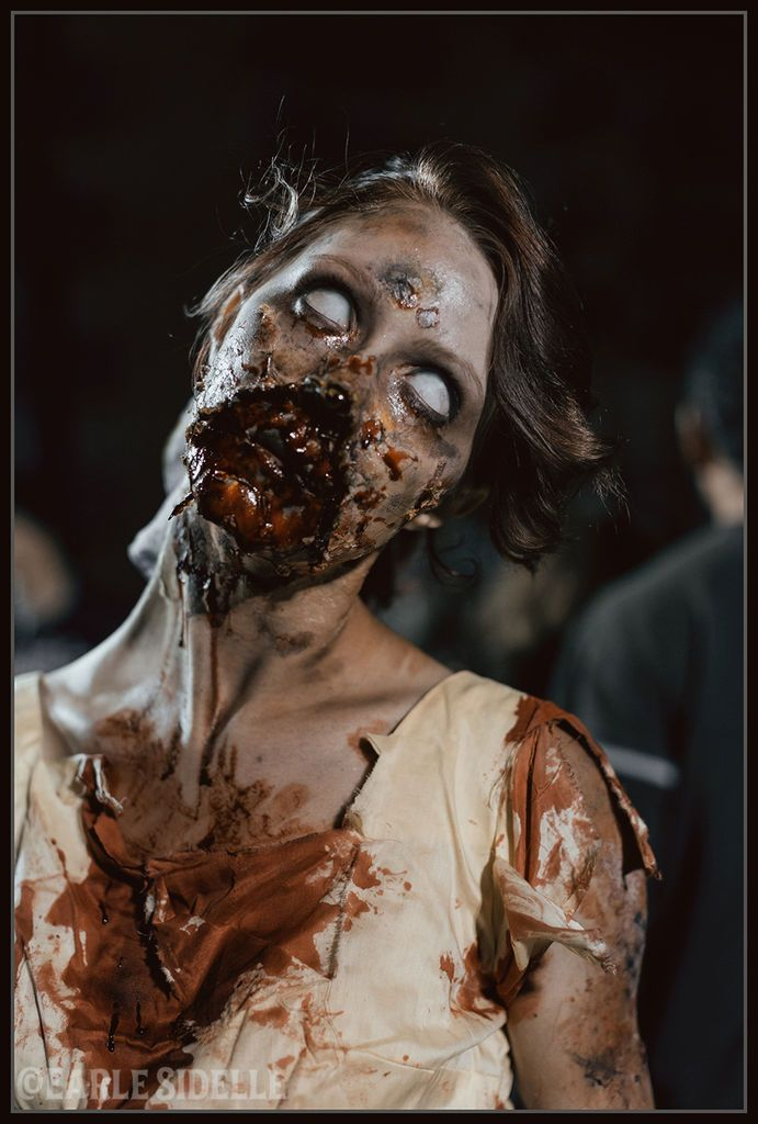 Awesome Zombie SFX Makeup & prosthetics ideas & tutorials / Make sure to pair with some zombie eye contacts => http://www.pinterest.com/pin/350717889705763104/