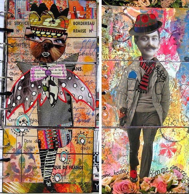 A crazy fun mixed-media art journal flip book.