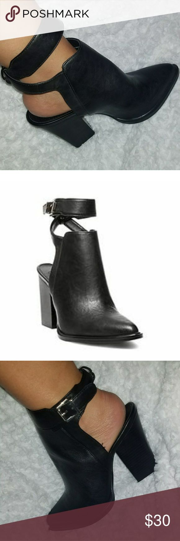 Steve Madden Madyy cutout wrap around boots Beautiful and definitely a statemebt piece! Such a unique look!  Please feel free to make an offer on any of my items! Extra discount on bundles! Steve Madden Shoes Ankle Boots & Booties