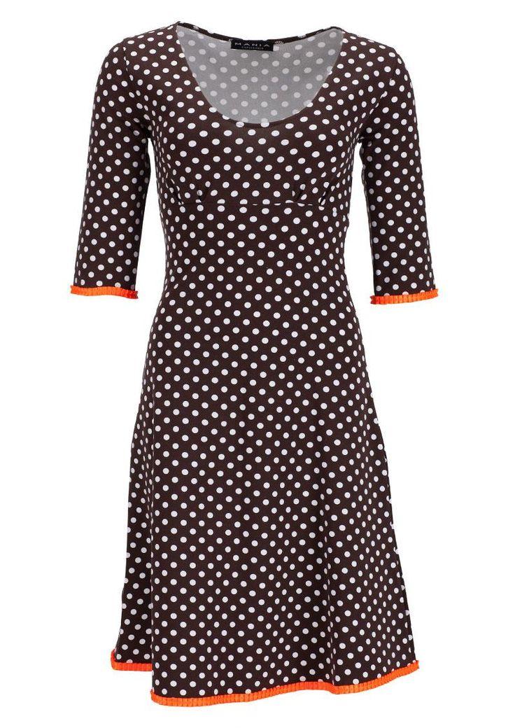 Flot kjole fra Mania Copenhagen STELLA brown dot dress