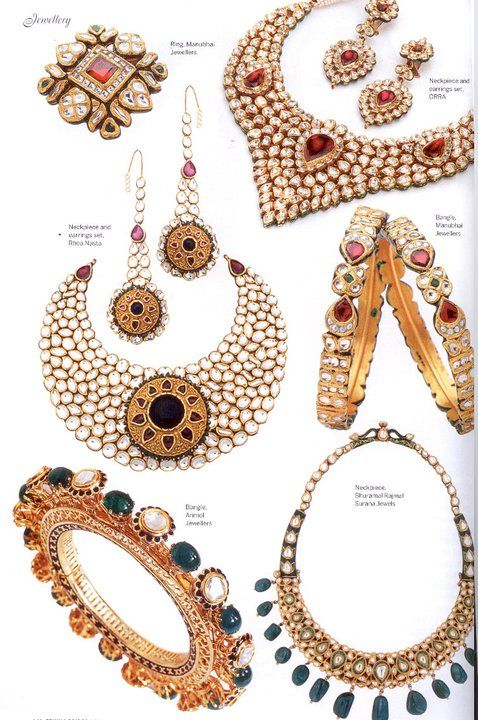 Beautiful ORRA jewellery in Femina Bridal edition -Necklace-earrings-bangles - Latest Jewellery Designs