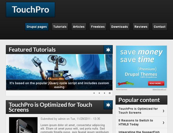 http://www.victoo.net/touchpro-free-drupal-template-454.html