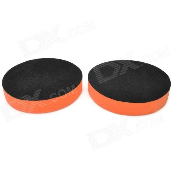 Brand: N/A; Quantity: 2 piece(s); Type: Car washes / cleaners; Material: Sponge; Color: Orange + black; Function: Car wax polishing; Packing List: 2 x Polishing pads; http://j.mp/1lktQxb