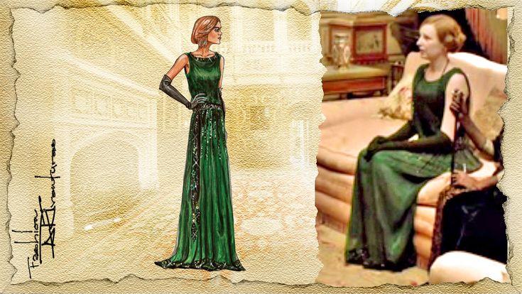 edith crawley green dress - Google Search