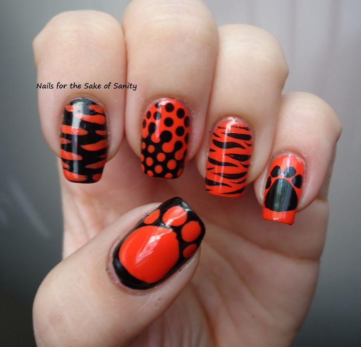 tiger paw nail art