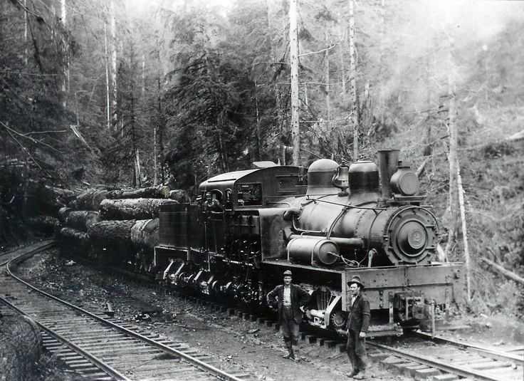 c.1928 A.O. Westburg Lumber Company:  A small company with just 3 miles of track to serve its mill at Columbia Falls along with 1 standard locomotive.  Montana Logging Railroads.