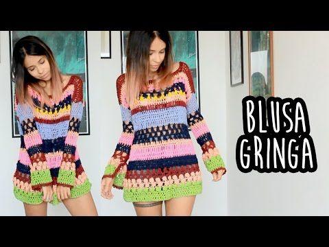 Blusa mandala com sobras da linhas ( 1ª parte ) # Elisa Crochê - YouTube