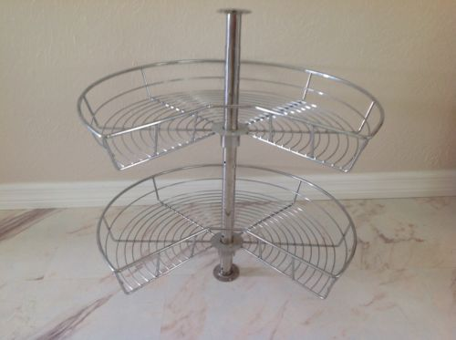 Rationell-Corner-Base-Cabinet-Carousel-Stainless-Steel-D23-034-H24-034-32-034