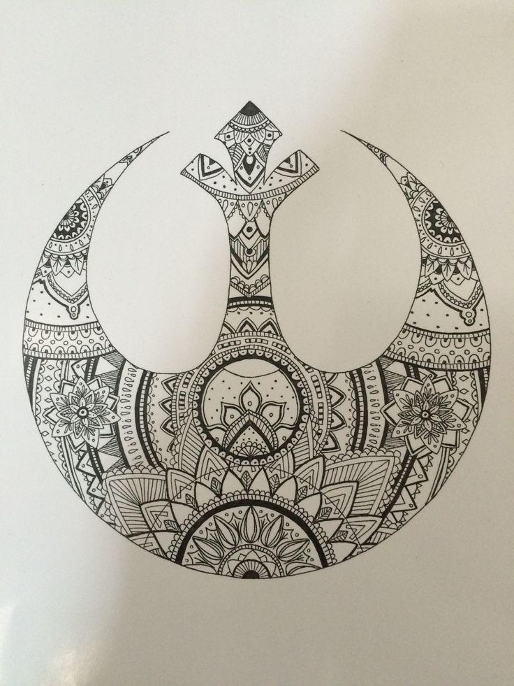 Star Wars Rebel Alliance Mandala by PrettyNerdyJazz on Etsy